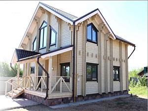 Фото дома из двойного бруса
